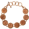 Bezel Handmade Bracelet 5/8in X 4mm Round Links Copper